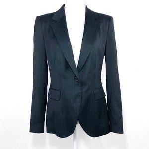 Zara Basic Blue Pinstriped Jacket